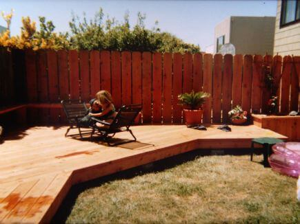 Californian redwood decking.