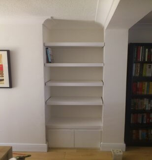Fitted floating shelving with base unit