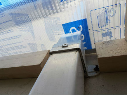 The polycarbonate sheeting can be cut around any obstructions, using flashtex to seal any gaps afterwards, leaving a water tight structure.