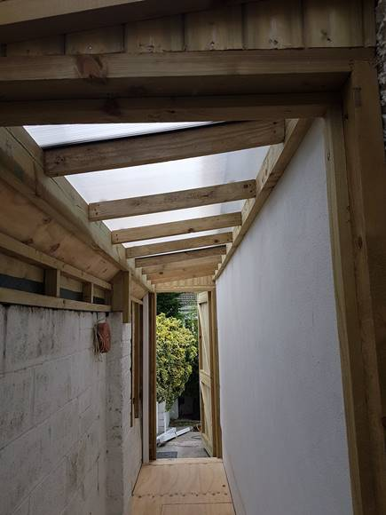 The timber framing in all sheds is pressure treated timber, protecting the wood from rot and insect infestation. The layout of the timber frames for the roof, floor and walls is the same as any timber frame house,the material itself is lighter due to smaller spans, but is equally as strong.