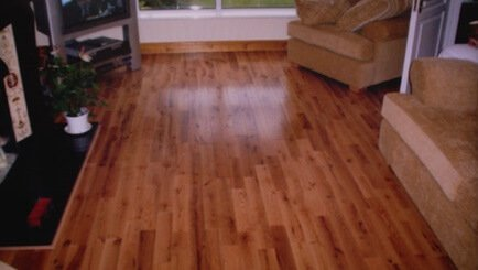 Flooring style, solid red oak strip floor, the floor boards are 90mm in width and vary in length. Secret nails and underlay were used to fit this floor.